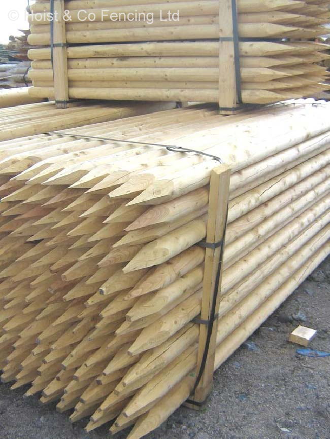 Full Round Milled Stakes 2.4m 63mm Top